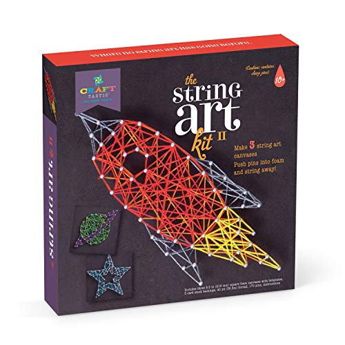 Craft-tastic – String Art Kit – Craft Kit Makes 3 Large String Art Canvases – Space Edition