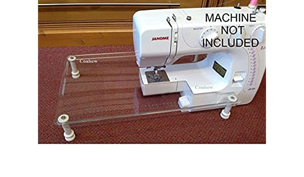 Máquina de coser extensión mesa de coser para Janome J3 - 24, J3 - 20, J3 - 18,4400, xr23,2300 X T, 2032, dmx300: Amazon.es: Hogar
