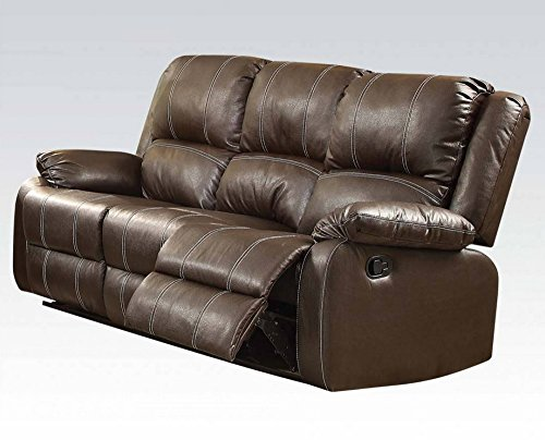 ux Leather Reclining Sofa ()