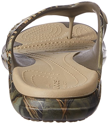 Crocs Mujer Modi Sport Realtree Max 4Flip Flop Chocolate/caqui