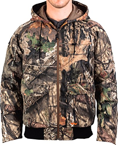 Walls Men's Insulated Camo Bomber Jacket, Mossy Oak Break-Up Country, L