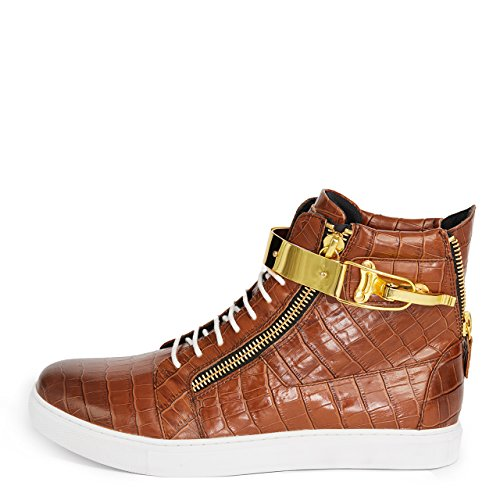 by Zeus Brown Sneaker Top J75 Men's Fashion Jump High txdwgdfp