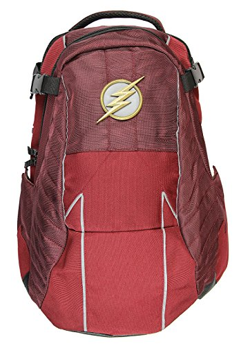 DC Comics The Flash Built Uniform Suit Comic Book Superhero Backpack Laptop Bag -