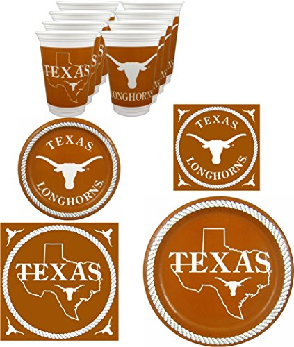 Texas Longhorns Party Pack - 80 pieces