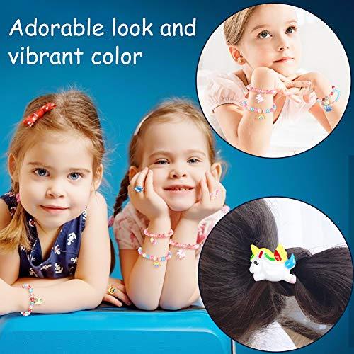 LovesTown Toddler Bracelets rings Set,Pretend Play Bracelet Little Girl Animal Bracelets Pretend Play Bracelet for Birthday Gift Dress Up Game Props
