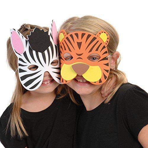 Wild Animal Foam Masks, Assorted masks (2-Pack of 12)