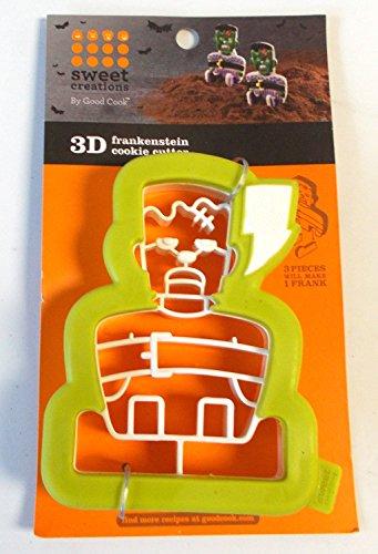 Sweet Creations 1 X Frankenstein 3-D Halloween Cookie Cutter -