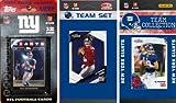 NFL New York Giants 3 Different Licensed Trading Card Team Sets