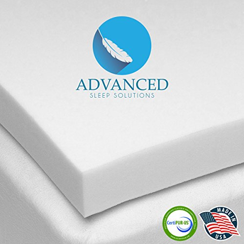 Advanced Sleep Solutions Memory Foam Mattress Topper 2