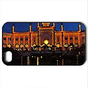 Well Lit. - Case Cover for iPhone 4 and 4s (Monuments Series, Watercolor style, Black) by icecream design