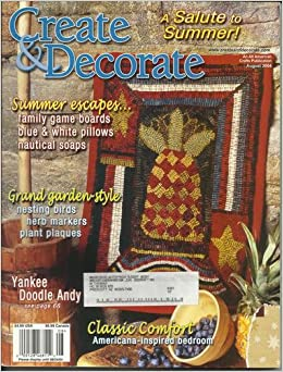 Create decorate magazine august 2004 books for Create and decorate magazine free