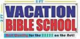 VACATION BIBLE SCHOOL All Weather Full Color Banner Sign