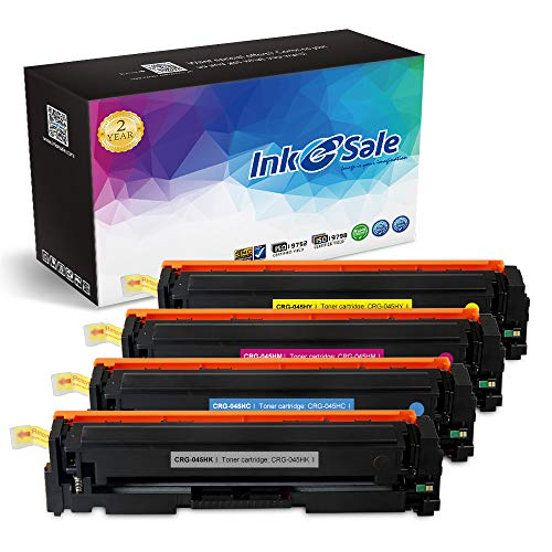 Full Seam Coverage - INK E-SALE Replacement for Canon 045 Canon 045H Toner Cartridge for use with Canon Color imageCLASS MF634Cdw MF632Cdw LBP612Cdw Printer, 4 Pack