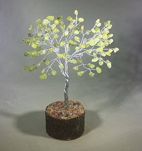 [A&S Crystals] Natural PERIDOT Gemstone Chip Tree With 150 Stones Crystal Tree Of Life
