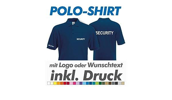 Polo Camiseta, marina, Fruit of the Loom, con su texto/Logo ...