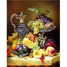 ABEUTY DIY Paint by Numbers for Adults Beginner - Fruit Art and Bottle 16x20 inches Number Painting Anti Stress Toys (No Frame)