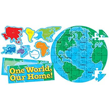 Amazon scholastic teachers friend world continents bulletin scholastic teachers friend our earth puzzle bulletin board tf8401 gumiabroncs Image collections
