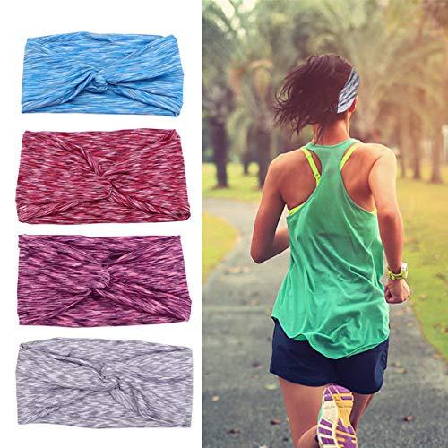 Lurrose – Bandanas femininas para ioga, esportivas, elásticas, absorventes de suor, para corrida, fitness, acessórios de…