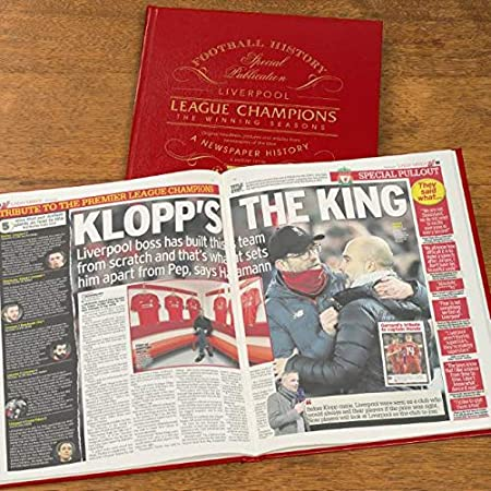 Signature gifts Premium Personalised Leather Bound Football Book - Liverpool FC 'Champions - The Winning Seasons'