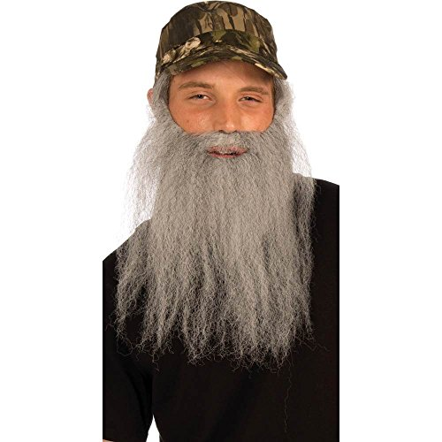 (Forum Novelties Party Supplies Unisex-Adults Hunt.Man-Att.Camo Cap and Beard, Gray, Standard, Multi,)