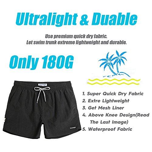 927894ac62c51 MaaMgic Mens Short Swim Trunks with Mesh Lining Quick Dry Boy Mens Board Shorts  Swim Suit