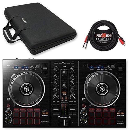 Pioneer DDJ-RB DJ Controller w/ Magma MGA47989 Case & Pig Hog Dual RCA Cable - Bundle by Pioneer DJ