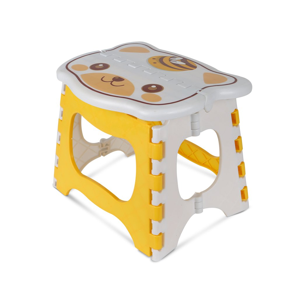 Merssyria Folding Step Stool, Slip Foldable Step Stool with Handle Cute Cat Step Stool for Kitchen, Bathroom, Bedroom, Kids or Adults