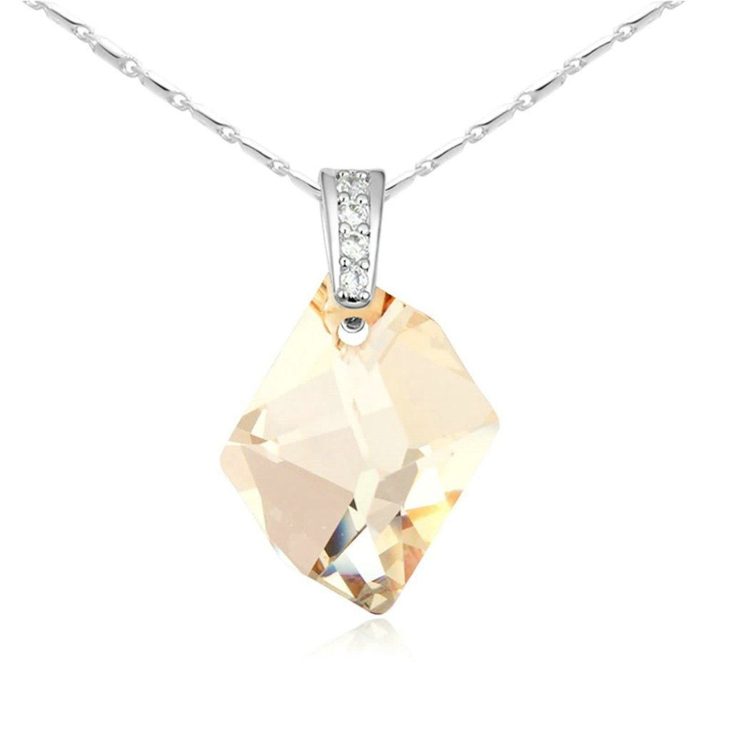AMDXD Jewelry Alloy Pendant Necklaces for Women Prophecy Stone 3.2X1.7CM