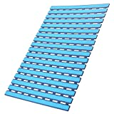 I FRMMY Non Slip Shower Floor Mat with Drain Hole- Anti-Slip-  25'' x 16'' (Blue)