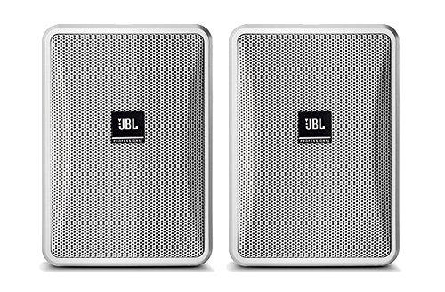 JBL Control 23-1 3 Inches Ultra-Compact Indoor Outdoor Speakers - White, Pair by JBL