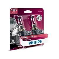Philips 9006 VisionPlus Actualiza la bombilla para faros con hasta un 60% más de visión, paquete de 2