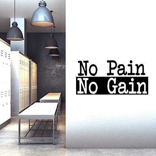 Extra Large Gym Wall Decal | No Pain No Gain Inspirational Wall Sticker Quote | 2 ft x 4 ft HUGE Wall Art Decoration | Big Vinyl Lettering Motivation for the Home Gym | Workout Exercise Sign by CrafteLife (Image #2)