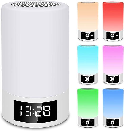 FENGCLOCK Intelligent Réveil Lumineux, Audio Bluetooth Lampe