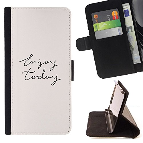 enjoy-today-cursive-hand-written-text-colorful-pattern-flip-wallet-leather-holster-holster-protectiv