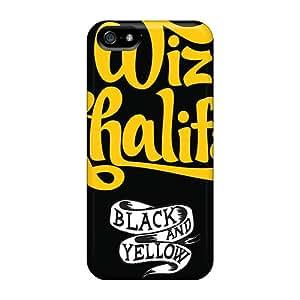 Anti-Scratch Cell-phone Hard Covers For Iphone 5/5s (Kbq7003Bwwu) Custom High Resolution Wiz Khalifa Image