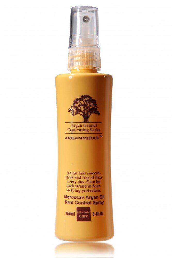 ARGANMIDAS Real Control Styling Spray und Pflege mit Arganöl für wetterfeste Frisuren-100 ml Argan-r