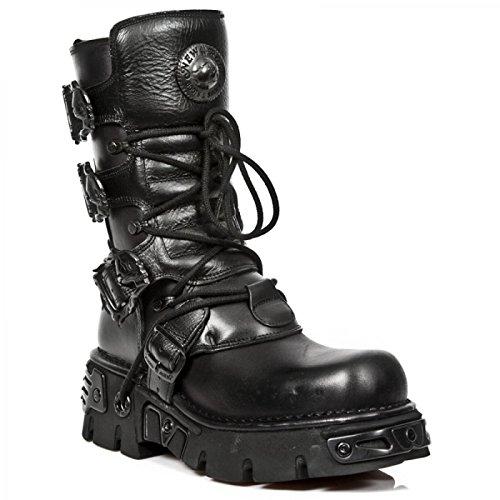 New Rock Støvler M.391-s18 Gotisk Hardrock Punk Unisex Stiefel Sort nIlw23N