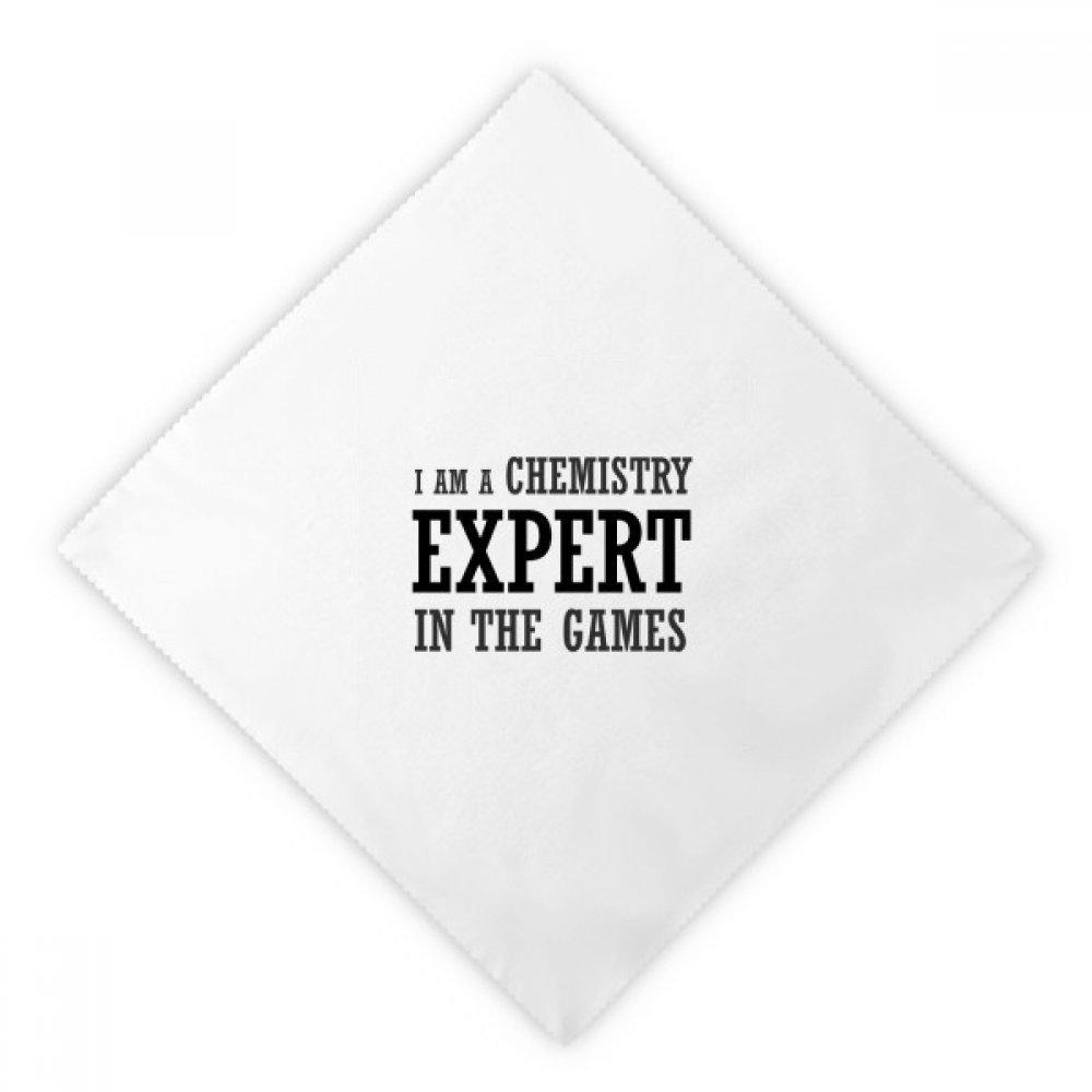 DIYthinker Chemistry Expert Games Dinner Napkins Lunch White Reusable Cloth 2pcs