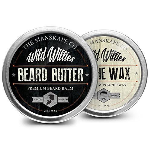 Willies sauvage barbe beurre & Stache Wax Combo Package