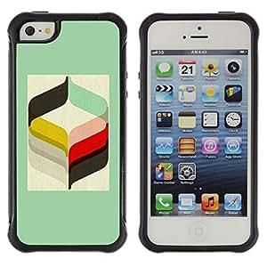 Paccase / Suave TPU GEL Caso Carcasa de Protección Funda para - Rye Minimalist Pattern Handlebar - Apple Iphone 5 / 5S