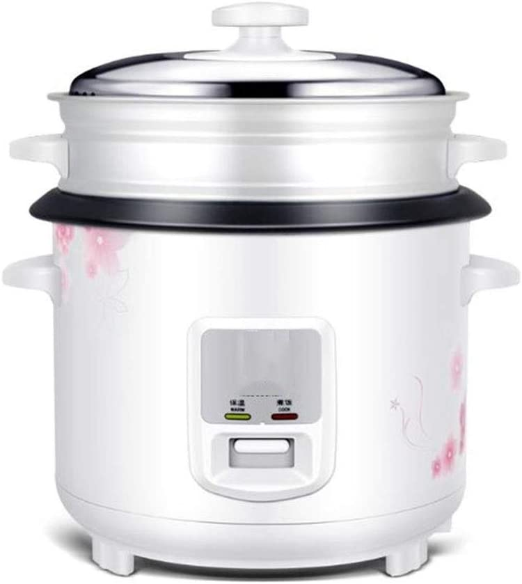 Rice cooker household old-fashioned rice cooker pot small multi-function rice cooker 3l4l5l6l liter (Color : White, Size : 4l)