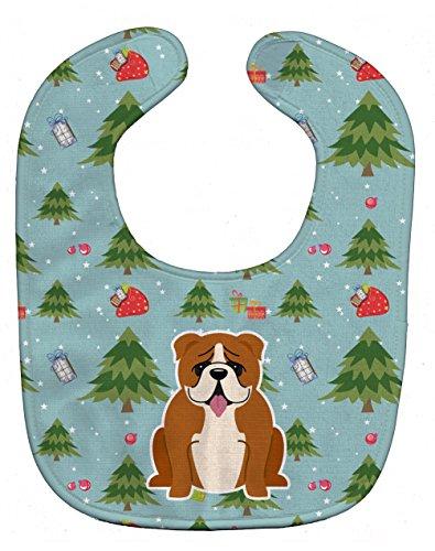 Caroline's Treasures Christmas Baby Bib, English Bulldog ...