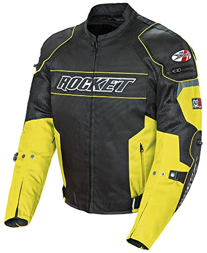 (Joe Rocket Resistor Men's Mesh Motorcycle Jacket (Yellow/Black, X-Large))
