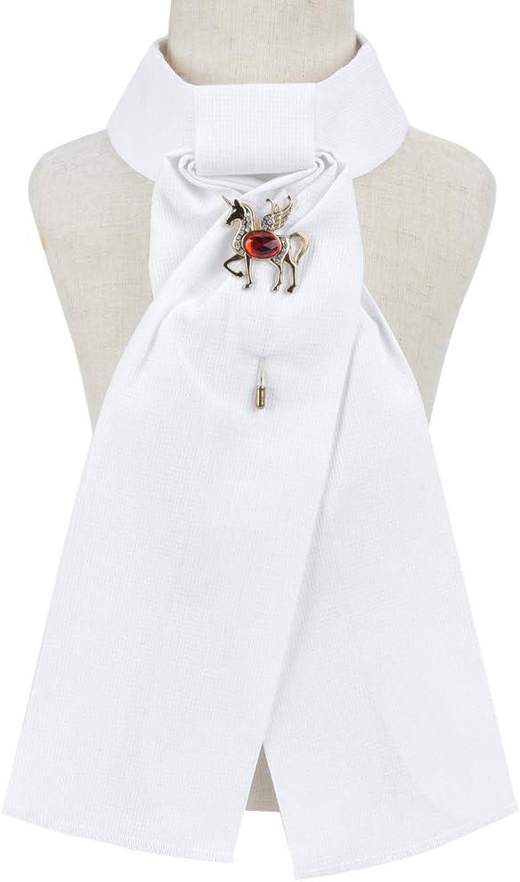 Redxiao Broche de Cuello para Montar a Caballo, Corbata para niños, 3 Piezas para Adultos, competición Profesional