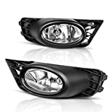 fog lights civic - AUTOSAVER88 Fog Lights For Honda Civic Sedan 2009 2010 2011 (Real Glass Clear Lens with Bulbs & Wiring Harness)