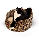 Cheap K&H Pet Products Lazy Cup Pet Bed Small Leopard 16″