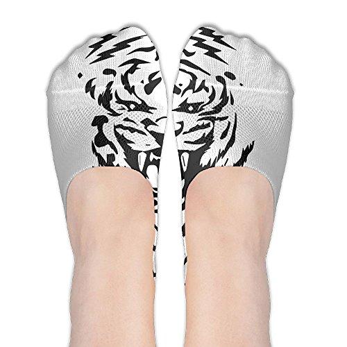 Tiger Clipart No Show Liner Socks Low Cut Non Slip Boat Liner Socks Summer Socks For Women (Clipart Boat)