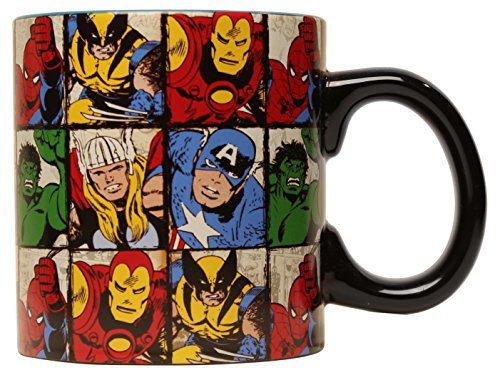 Marvel MV9134 Comics Grid Jumbo Ceramic Mug, 20-Ounces, Multicolor