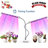 Grow Light, AOVOK LED Grow Lamp Bulbs Plant Lights Full Spectrum 3/6/12H Timer 6 Dimmable Levels Adjustable Gooseneck for Indoor Plants, Vegetable, Flowers, Fruits, Succulents, Seedlings Starting