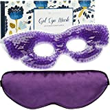 Gel Eye Mask for Puffy Eyes - Reusable Cooling Eye Mask for Dark